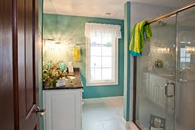 bathroom classic design for teal bathroom with dark wood