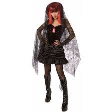 Black Widow Halloween Costumes Ladies Halloween Ghost Witch Skeleton Vampiress Bride Fancy