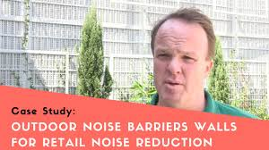 outdoor noise barrier walls for retail noise reduction youtube