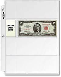 pocket pages 30 bcw 4 pocket pages for regular dollar bills binder sheets