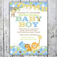 safari baby shower invitations jungle animal theme printable