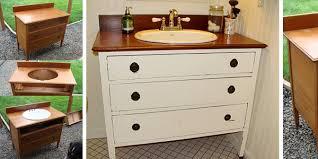 Repurposed Furniture For Bathroom Vanity Bathroom Vanities From Dressers Diy Vanity How To Repurpose