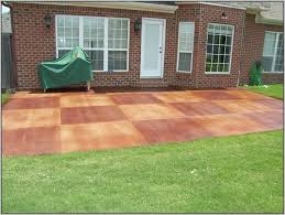 Patio Paint Concrete by Painting Concrete Patio Slabs Attractive Painted Concrete Patio