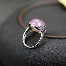 pink crystal rings images Japan and south korea 925 sterling silver thai natural pink jpg