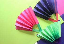 how to make a fan out of paper paper craft fan gallery coloring pages