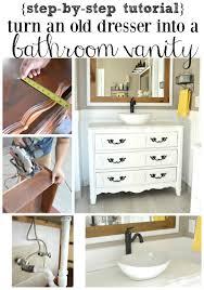 Old Dresser Bathroom Vanity Farmhouse Master Bathroom Reveal Little Vintage Nest