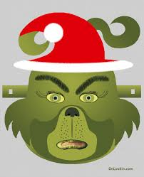 grinch santa face mask cut out a4 projects to try pinterest