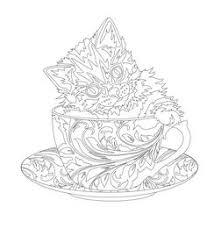 coffee pot coloring colouring coffee tea cakes