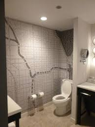 Bathroom Wallpaper Modern Modern Bathroom With A Map Of Chicago As Wallpaper Picture Of