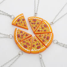 best friends friendship necklace images 1 set of 6 7 pizza slice friendship necklace best friends jewelry jpg