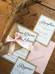Shabby Chic Wedding Invitations by Shabby Chic Wedding Invitation Rustic Dusky Pink Handmade