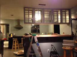 Kitchen Ideas From Ikea by Ceiling Mounted Cabinets With Doors On Both Sides Ikea Hacked