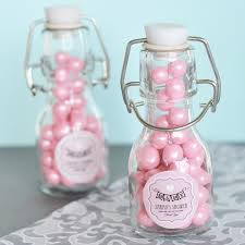 Vintage Baby Personalized Mini Glass Bottles Baby Shower Glass