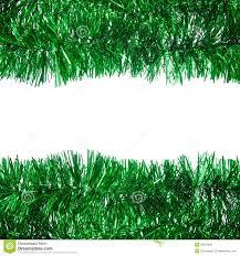 green tinsel frame stock photos image 35870943