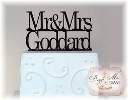 mr u0026 mrs name cake topper wedding cake topper