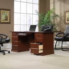 sauder 109843 heritage hill classic cherry executive desk