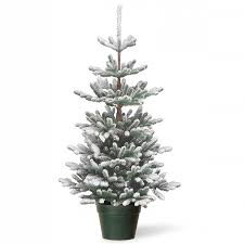 3ft snowy imperial blue spruce potted feel real artificial