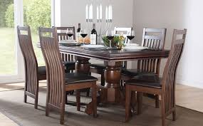 solid oak dining table and 6 chairs dining room table and chairs dark wood willtofly com