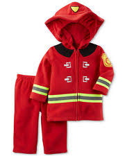 Fireman Costume Carter U0027s Baby 2pc Fire Fighter Fireman Red Fleece Halloween