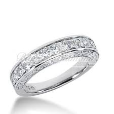 diamond wedding bands for women cut diamond wedding band for women in white or yellow gold