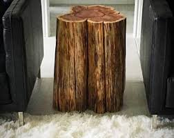 Wood Stump Coffee Table Tree Stump Table Real Cedar Live Edge Stump Natural Coffee