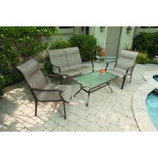 Conversation Patio Furniture Clearance by Mainstays York 4pc Sling Sofa Set Walmart Com
