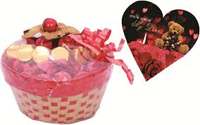 buy skylofts lovely gift basket with love heart box chocolate bars