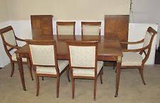 Baker Dining Room Furniture Walnut Dining Furniture Sets With Additional Leaves Ebay