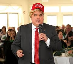 Norfolk County Council Committee System Wearing A Wig And A Quincy Great Again Hat Norfolk County