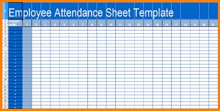 employee attendance sheet u0026 calendar excel 2017 calendar
