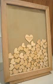 heart guest book solid oak heart drop frame guest book nerissa weddings