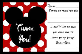 mickey mouse thank you cards mickey mouse thank you cards printable digital