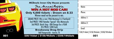 raffle tickets car raffle ticket color