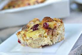 turkey cranberry and brie bread pudding thanksgiving leftovers