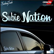 jdm sticker on car subie nation custom vinyl windshield decal sticker for subaru