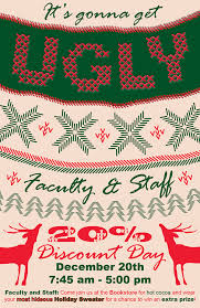 faculty ugly christmas sweater poster on behance
