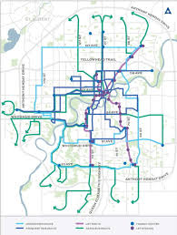 Map Of Edmonton Canada by Edmonton Releases Complete Rethink Of Its Transit Network