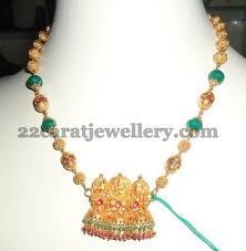 long gold beads necklace images Latest beads necklace with gold jewellery designs jpg