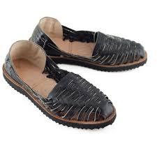 women u0027s black all leather huarache sandal ix style sandal