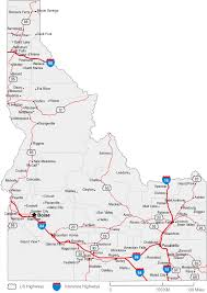 map of oregon freeways map of idaho cities idaho road map