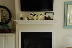 Over Fireplace Decor Killer Fireplace Decoration Using White Wood Shelf Over Fireplace