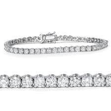 white gold bracelet with diamonds images Genuine 5 00ct round brilliant diamond tennis bracelet jpg