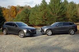 mazda cx 9 2017 jaguar f pace vs 2016 mazda cx 9 compare cars