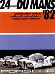 porsche racing logo 1982 24 hours of le mans 956 porsche poster motoring posters