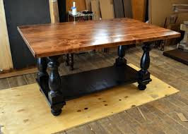large kitchen island turned legs and shelf in ebony 2 inch