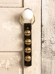 brass door with 4 bells sleigh bell door hanger