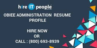 Spotfire Developer Resume Obiee Administration Resume Profile Hire It People We Get It Done