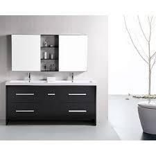 Black Bathroom Vanity Set Design Element Perfecta Modern 72 Inch Doublesink Bathroom Vanity