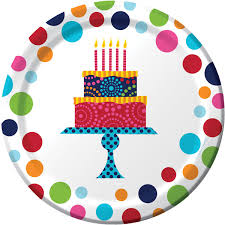 birthday cake stand dessert plates fast ship 8 per package