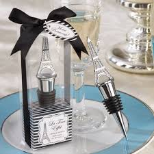 eiffel tower favors tower wine stopper